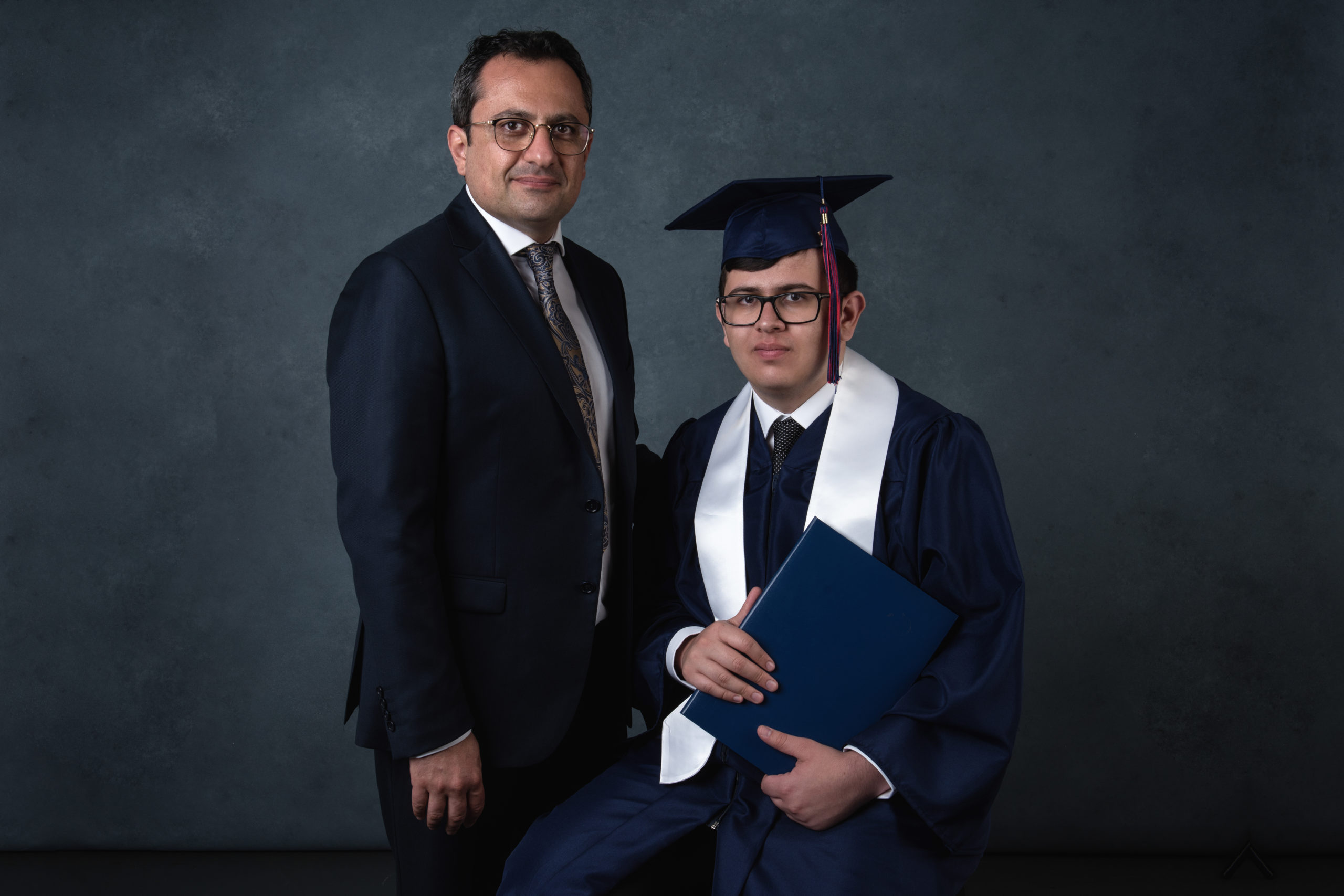 Graduation - father and son